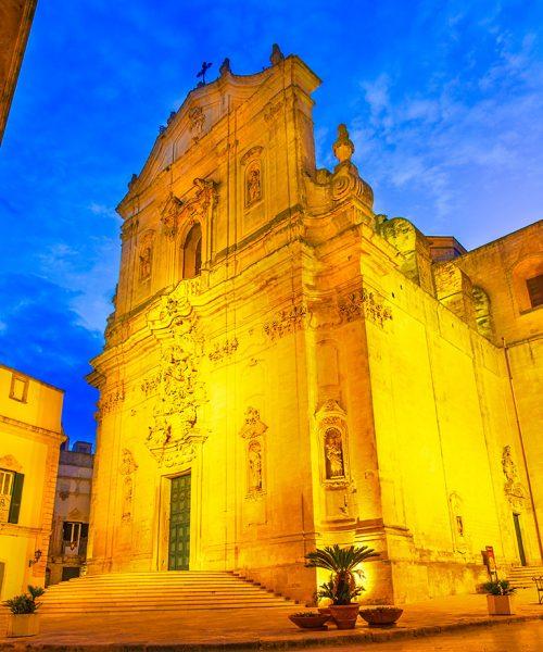 Martina Franca, Puglia, Italy: Piazza del Plebiscito with Saint Martin Basilica and Palazzo della Corte, Apulia