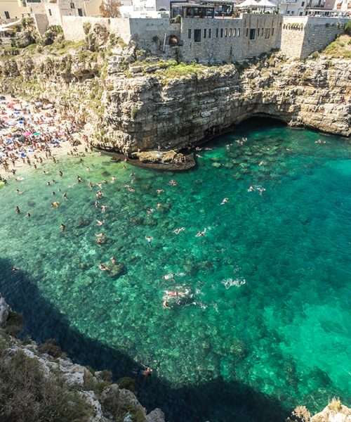 The wonderful village of Polignano a Mare in southern Italy